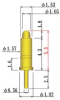 8Y254B Spring Probe Pins, Outer Dia.1.82mm, Solder Dip Type -- 8Y254B-H53S10-SD -- View Larger Image