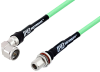 N Male Right Angle to N Female Bulkhead Low Loss Test Cable 200 cm Length Using PE-P300LL Coax -- PE3C2953-200CM -- View Larger Image