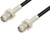 SMA Female to SMA Female Cable 24 Inch Length Using LMR-100 Coax -- PE3C0045-24 -Image