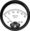 AC Repulsion Round Analog Panel Meter -- 560