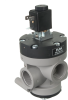 3/2-way Solenoid Vacuum Valve, Pneumatically Supported with Spring Reset -- 36.515 to 36.525