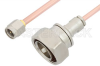 SMA Male to 7/16 DIN Male Cable 24 Inch Length Using RG402 Coax -- PE36171LF-24 -Image