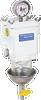SWK-2000-10 Single, Clear Bowl with Metal Heat Deflector