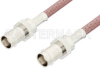 BNC Female to BNC Female Cable 24 Inch Length Using RG142 Coax -- PE3088-24 -Image