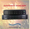 8-Channel ST Duplex Fiber Optic ONLINE/OFFLINE Mutually Exclusive Switch with RS232 Remote -- Model 6304 -Image