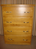Four Drawer Dresser with Silver Handles-JC204SH -- JC204SH