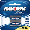 RL123A-2, Photo Lithium Carded 123A 2-Pack, 3.0 Volt (6 packs/case) -- RL123A-2