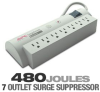 APC NET7 Surge Arrest 7 Outlet Strip -- NET7