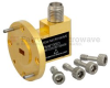 Zero Biased Waveguide Detector WR-19 to SMA Female and Negative Video Out From 40 GHz to 60 GHz U Band, UG-383/U Round Cover Flange -- FMMT3003 -Image