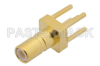 SSMB Jack Connector Solder Attachment Thru Hole PCB, .100 inch x .031 inch Hole Spacing -- PE4340 -Image