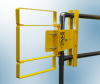 Extended Coverage Self-Closing Safety Gate -- XL Series - Carbon Steel