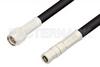 SMA Male to SMB Plug Cable 12 Inch Length Using RG58 Coax, RoHS -- PE3172LF-12 -Image