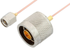 SMA Male to N Male Cable 60 Inch Length Using PE-047SR Coax, RoHS -- PE34257LF-60 -Image