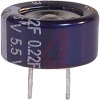 CAPACITOR, ALUMINUM ELECTRONIC (EDL) STACKED COIN, .22 F, 5.5 VOLT, MAX RES. 75 -- 70186138