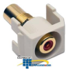 Hubbell Snap-Fit Recessed RCA Pass-Through Connector -- SFRCBKRAL