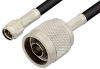SMA Male to N Male Cable 12 Inch Length Using RG58 Coax, RoHS -- PE3662LF-12 -- View Larger Image