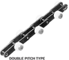 Outboard Roller Chain Series Double Pitch Type with Brake -- C2040SS 1L PSRE-T-RP-B -Image