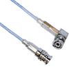 3-SLOT FULL CRIMP PLUG TO R/A PLUG M17/176 TWINAX, 84 INCH CABLE LENGTH -- MP-2166-84 -Image