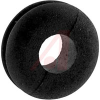 Grommet, Round; 1/4 in.; Black Buna-S Synthetic Rubber/Black Polyvinyl Chloride -- 70211201