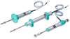 Rectilinear Displacement Transducer With Cylindrical Case -- PZ34 -- View Larger Image