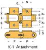 Plastic Sleeve Chain Attachment -- CS2062D 1L K-1 -Image