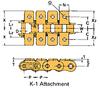 Single Pitch Conveyor Lambda Chain Attachment -- RSC35-LAMBDA-K-1 - Image