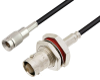 1.0/2.3 Plug to BNC Female Bulkhead Cable 150 cm Length Using LMR-100 Coax -- PE3W05192-150CM -- View Larger Image