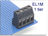 1-Tier Fixed Terminal Block -- EL1M Left Offset Series -- View Larger Image