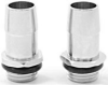 """Swiftech 1/4"""" BSPP x 3/8"""" Barb Chrome Plated Fitting -- 20742 -- View Larger Image"""