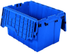 Akro-Mils Keepbox 12 gal 65 lb Blue Industrial Grade Polymer Attached Lid Container - 21 1/2 in Length - 15 in Width - 12 1/2 in Height - 39120 BLUE -- 39120 BLUE - Image
