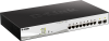 8-Port Gigabit Smart Managed PoE Switch with 2 Gigabit SFP ports, 130W PoE Budget -- DGS-1210-10MP