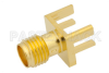RT SMA Female Connector Solder Attachment .062 inch End Launch PCB, .020 inch x .010 inch Contact -- PE44202 -Image