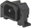 IEC Appliance Inlet C14 or C18, Screw-on Mounting, Rear Side, PCB terminals