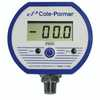 Cole-Parmer Battery-powered Digital Gauge, -15 to 15.0 PSI; 1/4