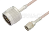 Reverse Polarity SMA Male to N Male Cable 12 Inch Length Using RG316 Coax -- PE34770-12 -Image