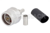 N Male Connector Crimp/Non-Solder Contact Attachment for LMR-200, PE-C200 -- EZ-200-NMH-X -Image