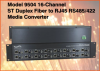 16-Channel ST Fiber to RJ45 RS485/422 Media Converter -- Model 9504