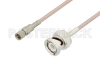 10-32 Male to BNC Male Cable 12 Inch Length Using RG316 Coax -- PE3C3424-12 - Image
