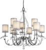 Large Chandeliers-Candle -- 10290 - Image