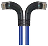 Category 5E Right Angle Patch Cable, RA Left Exit/RA Right Exit, Blue 10.0 ft -- TRD815RA8BL-10 -Image