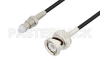 FME Jack to BNC Male Cable 24 Inch Length Using RG174 Coax, LF Solder, RoHS -- PE3C3409LF-24 -Image