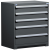 Heavy-Duty Stationary Cabinet , 5 Drawers (36