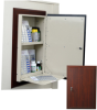 Wood Look In-Wall Medication Cabinet, Single Door/Singl.. -- WL2780TRMPKG