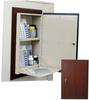 Wood Look In-Wall Medication Cabinet, Single Door/Singl.. -- WL2780TRMPKG - Image