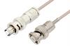 MHV Male to SHV Plug Cable 48 Inch Length Using RG316 Coax -- PE34417-48 -Image
