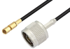 N Male to SSMC Plug Low Loss Cable 18 Inch Length Using LMR-100 Coax -- PE3C4432-18 -- View Larger Image