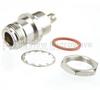 Bulkhead SMA Female (Jack) to N Female (Jack) Adapter, Nickel Plated Brass Body, High Temp, 1.2 VSWR -- SM4247 - Image