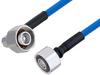 Plenum 4.1/9.5 Mini DIN Male to 4.1/9.5 Mini DIN Male Right Angle Low PIM Cable 48 Inch Length Using SPP-250-LLPL Coax , LF Solder -- PE3C5847-48 -Image
