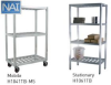 STATIONERY WELDED SHELVING - T-BAR SERIES -- H1048TB