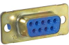 D-Sub Receptacle; Steel; Crimp; Female;1; Cadmium; Crimp Snap-in; 0.12 in. -- 70041412